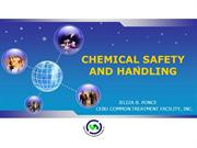 Chemical Safety and Handling