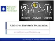 Complete your Alcohol, Drug Addiction Survey - Research Foundation