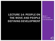 Lecture 14 - People on the Move and People Defining Development SU2015