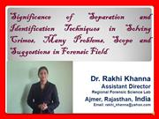 1.Dr. Rakhi Khanna Presentation for Separation Techniques-2015 from 10
