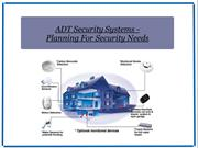 ADT Security Systems - Planning For Security Needs