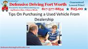 Tips On Purchasing a Used Vehicle From Dealership