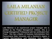 LAILA MILANIAN - CERTIFIED PROJECT MANAGER
