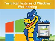 Technical Features of Windows Web Hosting