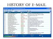 History of E Mail
