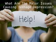 What Are The Major Issues Causing Teenage Depression