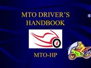 MTO Offering New Way to Ride Motorcycle on Road