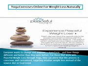 Yoga Exercises Online For Weight Loss Naturally