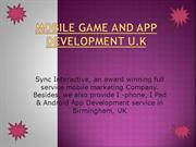 Mobile Game And App Development U.K-sync interactive