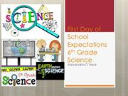 First Day of School Expectations and Open House