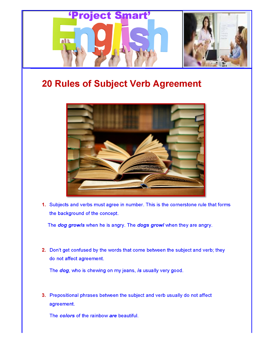 20 rules of subject verb agreement  related presentations