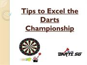 Tips to Excel the Darts Championship