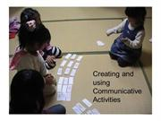 Creating and using Communicative activities