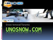 Uno snow best Snow removal business in Toronto