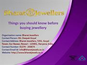 Things you should know before buying jewellery
