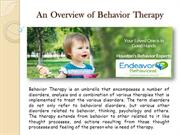 An Overview of Behavior Therapy