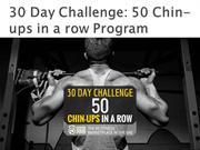 30 Day Challenge 50 Chin-ups in a row Program