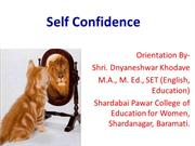Self Confidence presentation