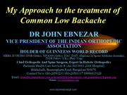 Common lowbackache  ( IMA Talk)