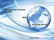 Make your presence in the world market with global sourcing