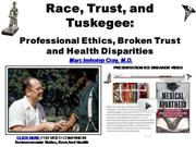 IVMS Race Trust and Tuskegee Medical Ethics Broken