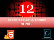 Best of 2015- 12 Best Free Bootstrap HTML5 Templates