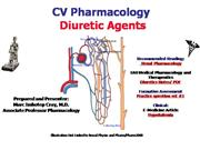 IVMS-CV Pharmacology -Diuretic Agents