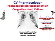 IVMS-CV Pharmacology- Management of Cong