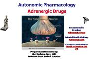 IVMS-ANS Pharmacology- Adrenergic Drugs