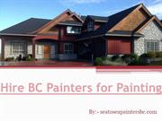 Hire BC Painters for Painting