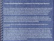 Promotional Bottled Water-A method of Avertising Your Business
