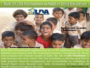 Role Of LDA Foundation as NGO in Child Education