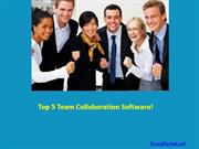 Top 5 Team Collaboration Software