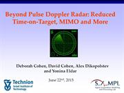 Beyond Pulse Doppler Radar