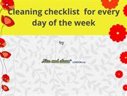 Cleaning checklist for every day of the week