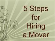 5 Tips for Hiring a Mover