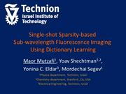 Sparsity Based Super Resolution Fluorescence Microscopy using Dictiona