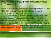 How to Transfer Data & Files between Android and Computer