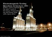 Electromagnetic Testing - Q&A 001