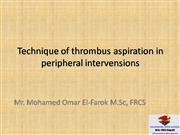 Technique of thrombus aspiration in peri