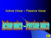 Active voice - passive voice