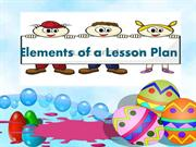 Elements of A Lesson Plan