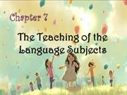 Teaching of the Language Subjects