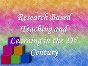 Research Based Learning and Teaching