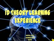 ID Theory Learning Experience