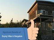 Significant Benefits of Buying Villas in Bangalore