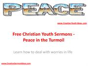 Free Christian Youth Sermons - Peace in the Turmoil