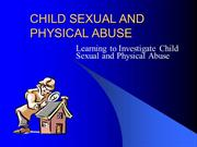 CHILD SEXUAL AND PHYSICAL ABUSE