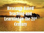 Research based in Teaching and Learning