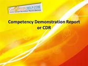 Competency Demonstration Report or CDR